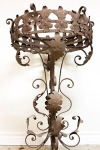 For Sale: Wrought Iron Planter