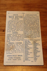 Old Arbuckle Bros. Coffee Company Advertising Cards London Ontario image 6