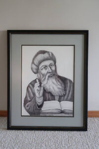 VINTAGE PENCIL DRAWING FOR SALE
