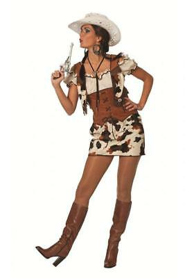 Westerngirl Cowboy Cowgirlkleid Cowgirl Kleid Kostüm Damen Lady Cowgirlkostüm