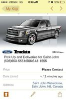 Pick Up and Deliveries for Saint John (506)650-5551(506)643-1555