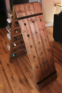 Rustic A-Frame Wine (Alcohol) Rack