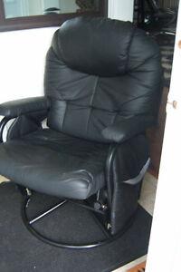 Black Glider Recliner Chair
