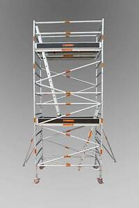 Aluminum Mobile Scaffold 1.3m(W)X2.5m(L) x5.6m Platform Height Revesby Bankstown Area Preview
