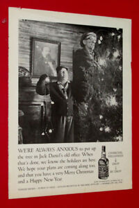1967 JACK DANIELS WHISKEY MERRY CHRISTMAS VINTAGE AD - 60S BOOZE