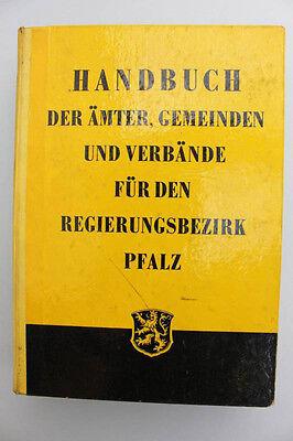 Handbuch der Ämter, Gemeinden und Verbände für den Regierungsbezirk Pfalz 1957