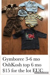 Baby boy 3-6mo clothing