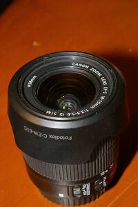 CANON Lens: EF-S 18-55mm f/3.5-5.6 IS STM