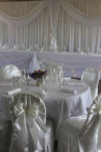 IVORY BROCADE LUXURY EVENT WEDDING CHAIR COVERS