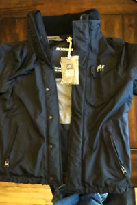 Mens Abercrombie Fitch navy blue coat size large. New