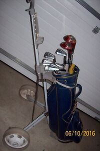 Golf clubs with golf bag/car for sale!
