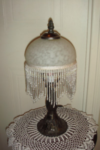 Frosted Glass Dome Beaded Lamp