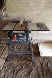 """15A 10"""" Mastercraft Deluxe Table Saw W/ Stand  - Asking $175"""
