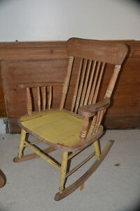 Solid Wood Rocking Chair $45