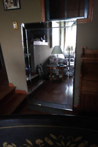 Mirror with bevelled frame. 5' * 3'