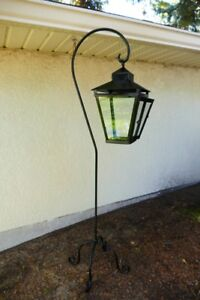 Wrought Iron lantern, with BRAND NEW Glass and Brand New Candle