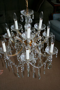 Vintage Lead Crystal Chandelier
