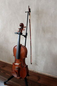 full size violin with stand