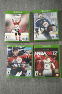 Jeux XBOX ONE a vendre.  XBOX ONE games to sell