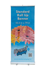 Show your product / service to public - pull up banner stand