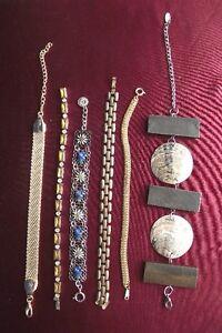 6 bracelets gourmettes  métal