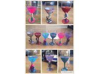 Frozen glitter wine glasses