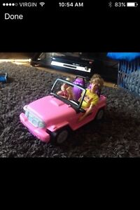 Ken, Barbie and Jeep