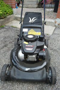 gas lawn mower 19 inches.140cc still like brand new with bag