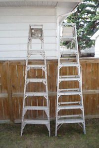 GOOD CONDITION 8 FOOT STEP LADDER ASKING $55.00