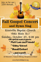 Fall Concert and Hymn Sing