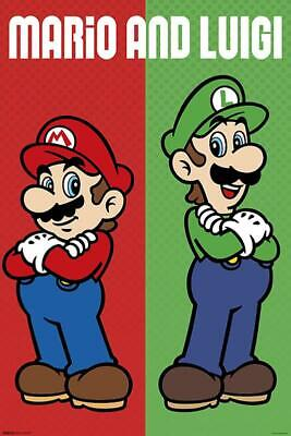 ario & Luigi - Nintendo Gaming Plakat Hochformat 61 x 91,5cm (Mario X Luigi)