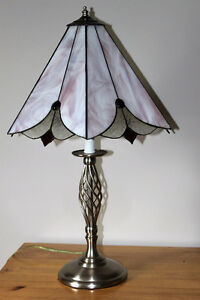 Table / desk lamp Stained Glass shade