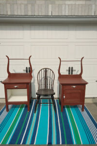 2 Antique Wash stands + CHAIR** SEE EACH PRICE **
