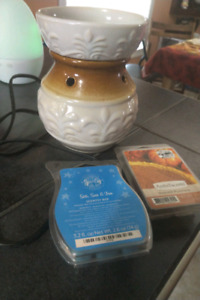 Wax warmer with some partial scented wax packs
