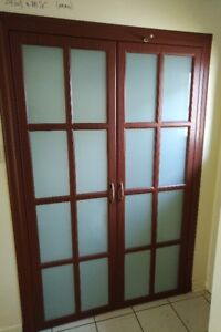 Door - 24(w) x 78, Cabinet Door, Wood Veneer Like, Frosted Glass