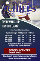 Akwesasne Chiefs Open Walk-Up Tryout Camp