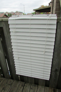 4 - 2 1/2 inch Faux Wood Blinds White 10.00 each