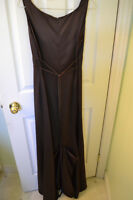 Chocolate long gown