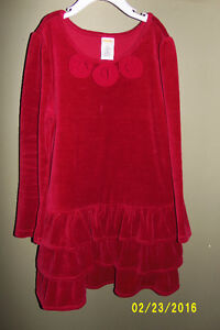 Gymboree Red Velour Dress Size 7