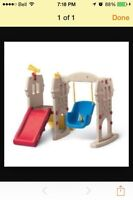 Toddler swing with slide