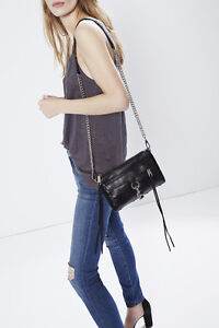 Rebecca Minkoff Mini M.A.C Crossbody bag in black