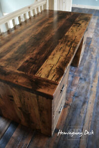 Custom Desks made from local barnwood