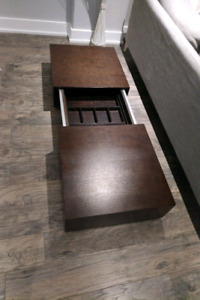 Modern Coffee Table- with Built in Storage- Best Offer