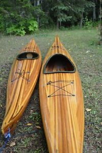 Great Deal His and Her Hand build Cedar Strip Kayaks  Like New