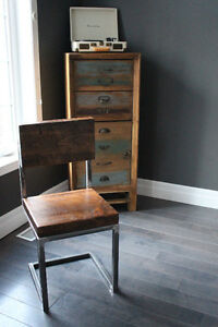 Rustic Pine Metal chairs