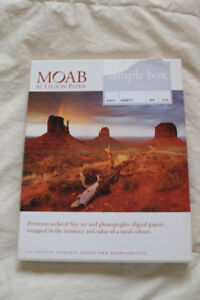 MOAB Premium Archival fine art photo paper (sample pack) NEW.