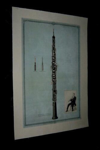 Original 1931 VICTOR TALKING MACHINE OBOE Advertising Poster #8 LINENBACKED