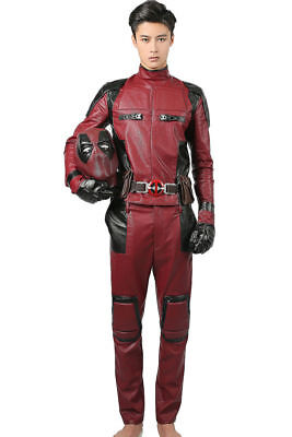 Deadpool Cosplay Costume Outfit Belt Gloves Props Halloween Party Adult For Sale