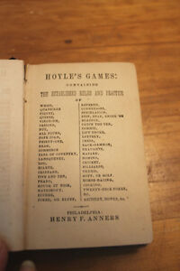 Old Hoyle's Game Book - 1845 London Ontario image 6