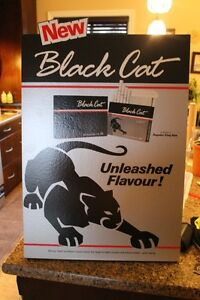 Vinatge Black Cat Tobacco Advertising Counter Top Poster